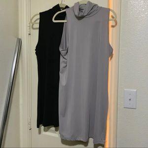 Turtle neck jersey dress